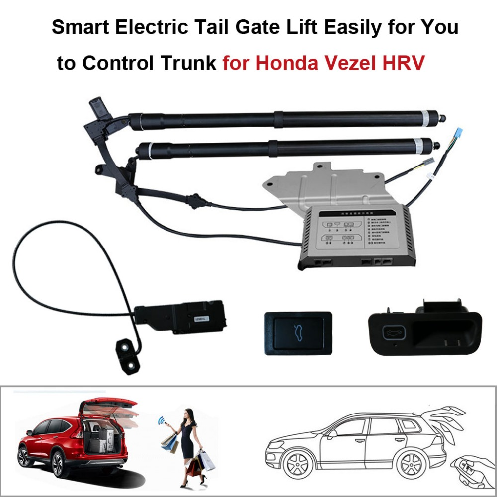 Smart Auto Electric Tail Gate Lift For Honda VEZEL HRV Control Set Height Avoid Pinch With Electric Suction