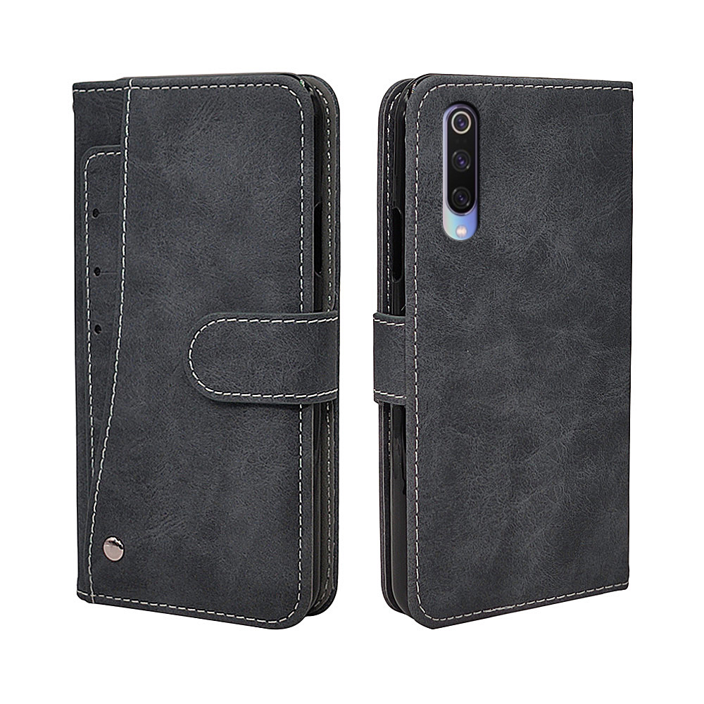 Luxury Vintage <font><b>Case</b></font> For <font><b>Xiaomi</b></font> <font><b>Mi</b></font> 8 <font><b>9</b></font> 9T SE Pro Lite <font><b>Case</b></font> <font><b>Flip</b></font> Leather Silicone <font><b>Wallet</b></font> Cover TPU Business With Card Holder image