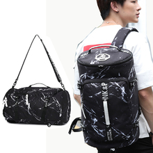 Travel Bag men Folding waterproof Oxford cloth protects womens portable Marble print leisure travel bags