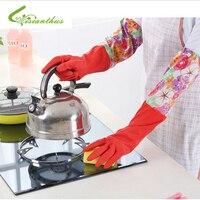 New Arrivals 2016 Warm Cleaning Plus Velvet Warm Rubber Gloves Kitchen Tools Dishwashing Plus Fleece Latex
