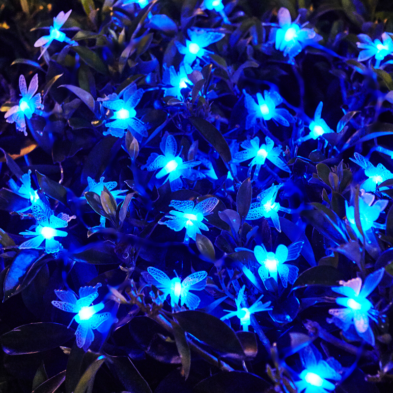 10m Led String Fairy lights 3D Butterfly Lighting String Navidad Guirlande  Lumineuse LED Wedding Christmas Lights Luzes De Natal - 10m Led String Fairy Lights 3D Butterfly Lighting String Navidad