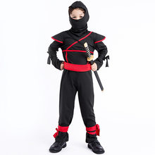 Anime Ninja Children's Masked Warrior Cosplay Costume Halloween Cosplay Suit Naruto Black Costume Stage Dress For Boy And Girl(China)