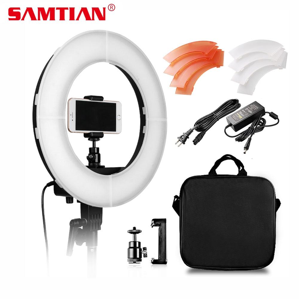 SAMTIAN Камера фото/Studio/телефон/видео освещения 12 42 Вт 180 шт. круглая лампа LED Ring Light 5500k для матовых фотографий с зеркалом