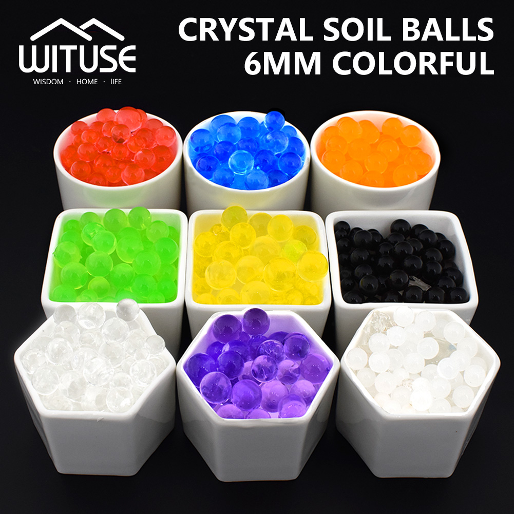 WITUSE 10000Pcs/Lot Water Beads Pearl Shaped Crystal Soil