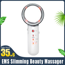 Face Lifting EMS Infrared Body Massager Device Facial Ultrasound Slimming Fat Burner Cavitation Beauty Therapy Infrared Machine 16modes multifunction physiotherapy tens ems body massager burn fat smoothing pain fatigue therapy beauty facial