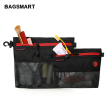 BAGSMART Travel Accessories 2pcs Packing Bags Waterproof Cosmetic Bag For Toiletries Cosmetics Stationery Passport Kindle