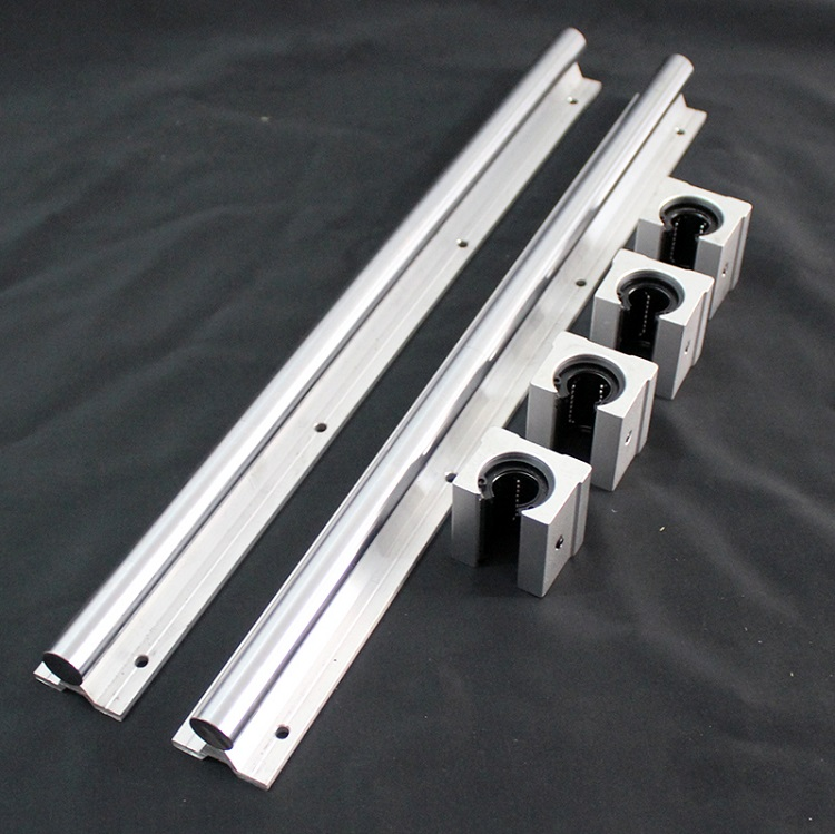 2pcs SBR16 1700mm support rail linear guide + 4pcs SBR16UU linear blocks beairng for CNC  linear rail2pcs SBR16 1700mm support rail linear guide + 4pcs SBR16UU linear blocks beairng for CNC  linear rail