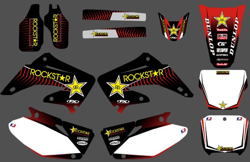 New Style Team Motorcycle Graphics Stickers Decal For Honda CR125 CR250 CR 125 250 2002-2012 2003 2004 2005 2006 2007 2008 2009