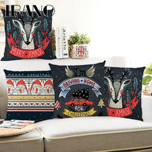 Vintage Cushion Cover Merry Christmas 45x45cm Pillow Cases Happy New Year Gift Bedroom Sofa Decorations For Home