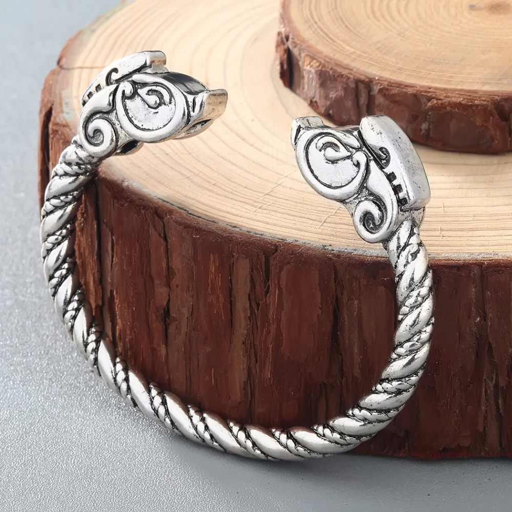 CHENGXUN ויקינג צמיד זכר פגאני תכשיטי הדרקון להרחיב צמיד קאף צמיד לגבר ונשים תכשיטים