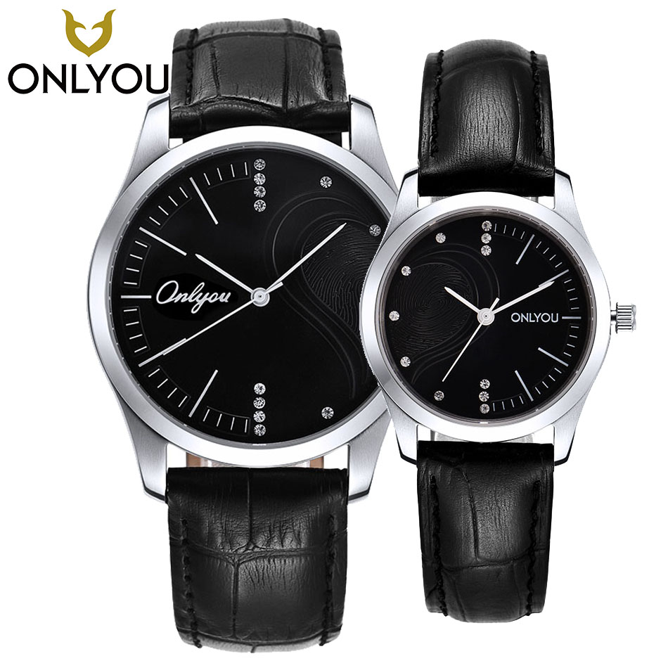 ONLYOU Brand Elegant Retro Watches Women Fashion Luxury Quartz Watch Clock Men Casual Leather band Heart shape Couple Wristwatch onlyou men s watch women unique fashion leisure quartz watches band brown watch male clock ladies dress wristwatch black men