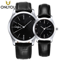 ONLYOU Brand Elegant Retro Watches Women Fashion Luxury Quartz Watch Clock Men Casual Leather band Heart shape Couple Wristwatch