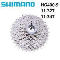Shimano Alivio M4000 HG400-9 9 Скорость велосипед кассета CS-HG400-9 MTB горный велосипед свободного хода 11-32 т 11-34 т 32 т 34 Т маховик