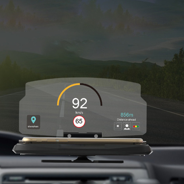 c2fdd97b343 Multifuncional Universal Do Telefone Móvel Titular Windscreen Projetor HUD  Head Up Display de Navegação Do Carro