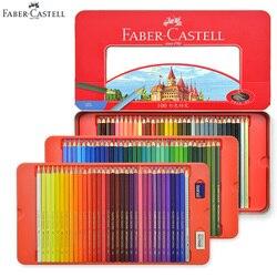 100 colores Faber Castell lápices de colores clásicos juego de lata para artistas dibujo, bocetos, libro para colorear productos de arte infantil Premium
