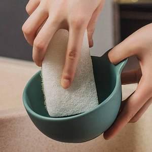 Image 5 - 3 יח\חבילה Youpin JieZhi שלוש שכבה מרוכבים לשטיפת כלים מברשת מטבח ספוגים ניקוי ביתי ידידותית לסביבה הגעלה רפידות