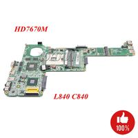 NOKOTION Laptop Motherboard For Toshiba Satellite C840 C845 L840 Notebook PC Main board A000174880 DABY3CMB8E0 HM76 HD 7670M