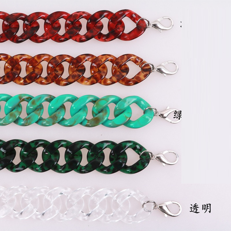 Caker Brand Women Colorful Acrylic Chain Bags Accessory Bags Belts Colorful Chain Wholesale