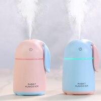 170ML USB Air Humidifier Ultrasonic Mini Aroma Diffuser Cute Mist Maker Nebulizer Car Humidifiers In Rabbit
