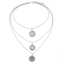 Women Multilayers Clavicle Tassel Pendant Necklace Choker Jewelry Bohemian 12 Constellation