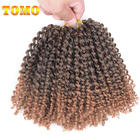 "TOMO 8"" 24strands/pack Freetress Synthetic Hair Crochet Braids 6Packs Ombre Braiding Hair Extension"