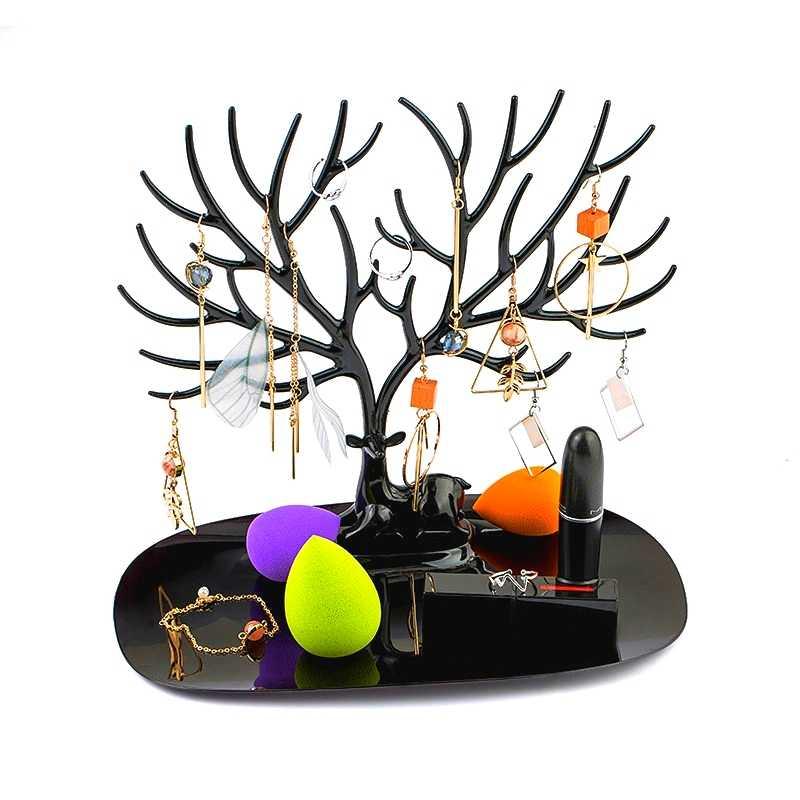 1 шт маленький ювелирное изделие в виде оленя Дисплей подставка, лоток дерево ювелирные изделия держатель кольцо для серьг и ожерелья с подвесками браслет витрины стеллажи для хранения