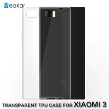 Transparent Soft TPU Silicon 5.0for Xiaomi mi3 Case For Xiaomi mi3 Mi 3 Cell Phone Back Cover Case(China)