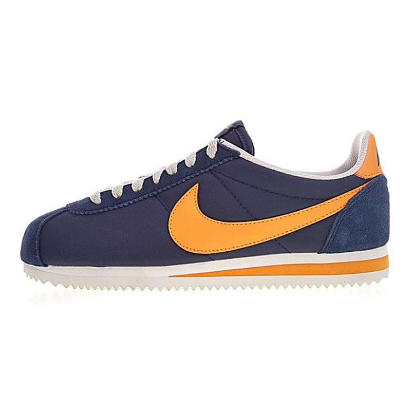 Nike CLASSIC CORTEZ NYLON Men\u0027s Running Shoes, Navy Blue