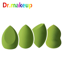 купить Dr.makeup Soft Makeup Sponge Matcha Green Beauty Egg Hydrophilic BB Cream Puff Wet Dry Use Face Foundation Powder Puff Wholesale дешево