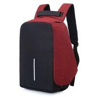 높은 품질의 USB 충전 안티 도난 배낭 남성 15 인치 노트북 배낭 패션 여행 학교