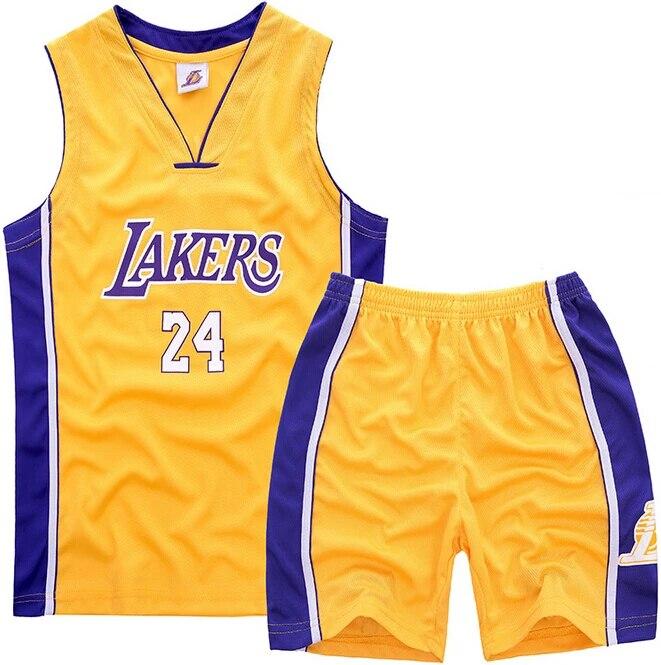 24 Kobe Bryant Kids Basketball Sport Suit Boys Clothes Set Chidren ...
