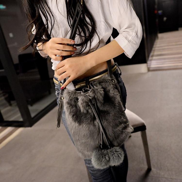 5f310527f211 ARPIMALA 2017 Winter Faux Fur Women Messenger Bags Leather Handbags Luxury  Designer Women Bag Rabbit Ladies Bucket Bag Crossbody-in Crossbody Bags from  ...