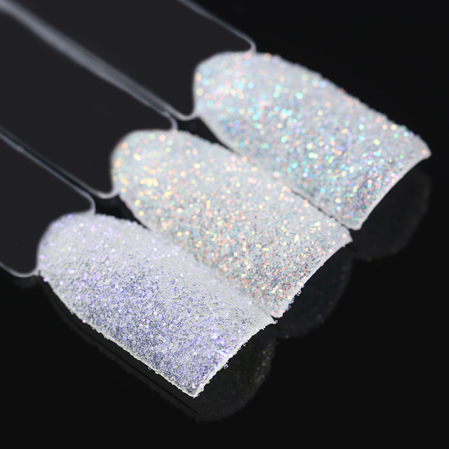 BORN PRETTY Magic Shell Glitter Powder 1.5g Shining Ultra-thin Nail Decoration Colorful Nail Glitter Dust 1 Box with Coat Gel