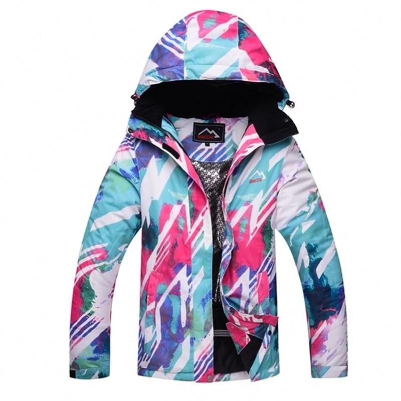 2017 New Women Ski Jackets Brands Outdoor Warm Snowboard Jacket Coat Female Waterproof Snow Jacket Sportswear Winter Clothes