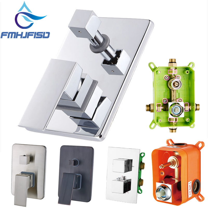 Embedded Box Thermostatics Faucet Valve Triple Faucet Cartridge Valve 2 Way Shower Mixer Valve for Shower Panel
