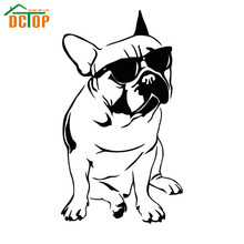 Cool French Bulldog With Sunglasses Wall Sticker Vinyl Removable Home Decor Lovely  For Living Room Kids Room Wall Decals