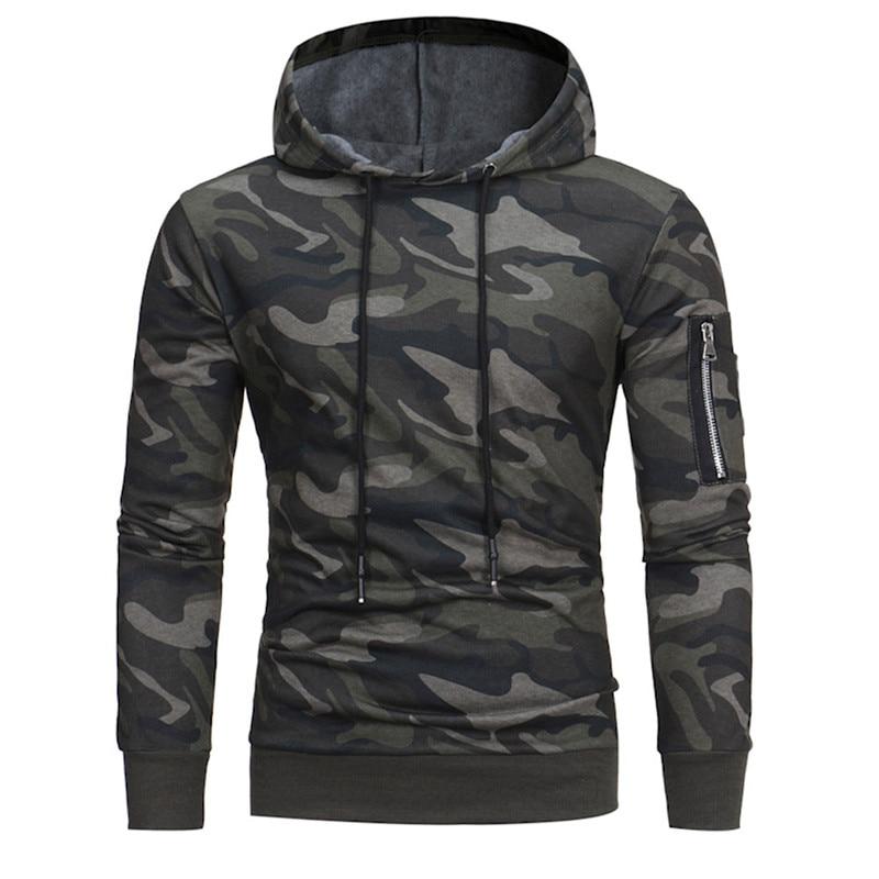 Feitong Mens Causal Hoodies Sweatshirts Autumn Winter Male Long Sleeve Camouflage Hooded Sweatshirt Tops sudaderas para Innrech Market.com