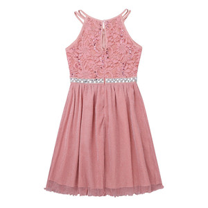 Image 3 - Sequined Flower Girls Dress Sleeveless Floral Lace Shiny  Tulle Princess Dress for Wedding Summer Girls Birthday Party Dress