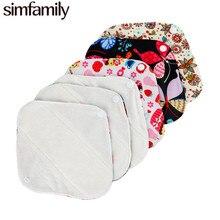 [Simfamily] 10 шт. многоразовые трусики с подкладкой, органический Бамбуковый материал, супер поглощение, мягкие и здоровые