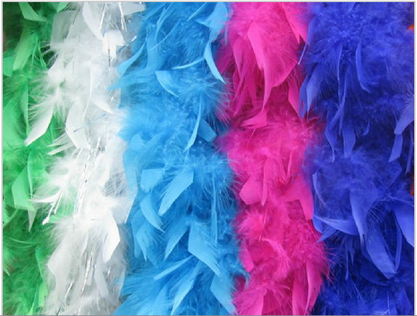500pcs/lot 40g white Turkey Feather Boa 200cm(79) long Turkey Feather Strip for christmas dress