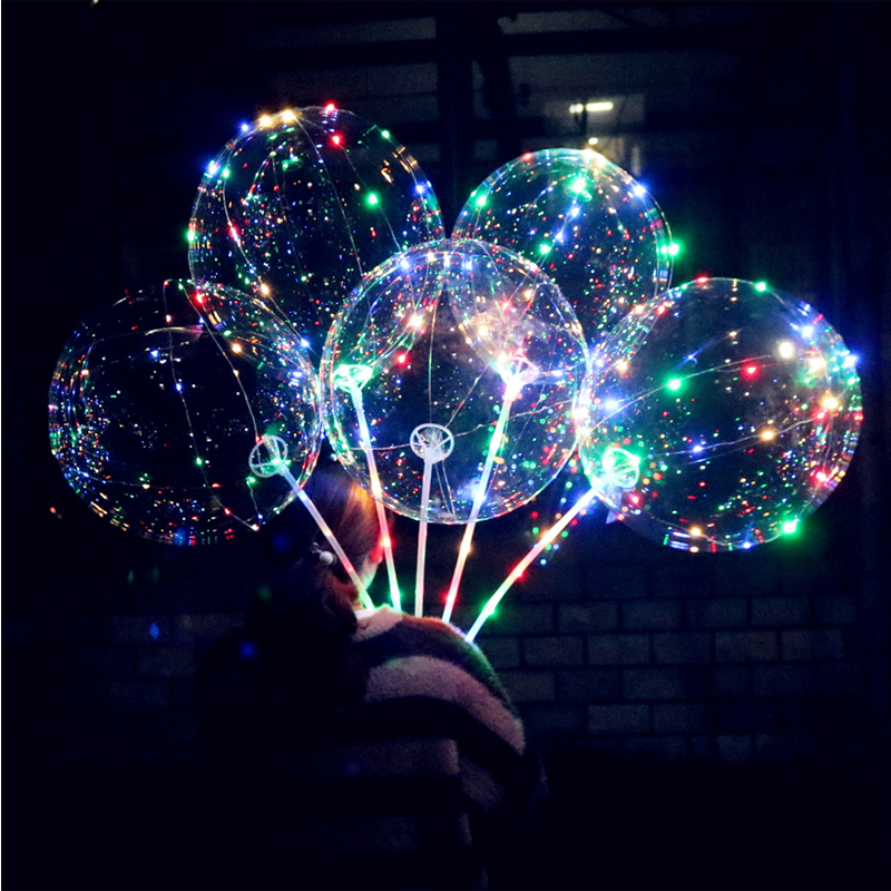 LED Air Balloon String Lights Flasher Belysning Bølge Ball 18inch - Ferie belysning - Foto 2
