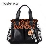 Leopard Print Women Leather Bag Luxury Handbags Women Bags Designer Shoulder Bags Ladies Crossbody Bag Female Tote Sac Femme