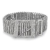 Vrouwen Diamante Ketting Riem Volledige Medium Breedte Bling Crystal Taille Riem