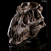 1PC Resin Crafts Dinosaur Tooth Skull Fossil Teaching Skeleton Model Home Office Decoration Halloween Drop