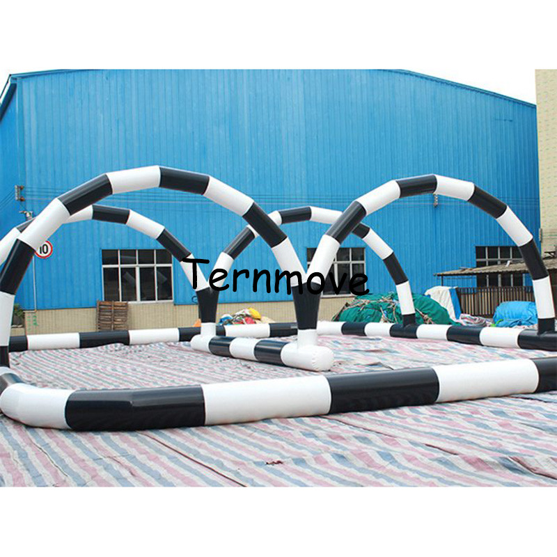 inflatable circuit racing track for sporting events, inflatable race track Kids play outdoor sports games go kart race track