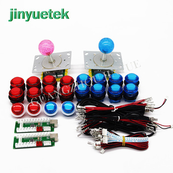 Safely packed kit mandos arcade 2 player button joysticks controller board set diy arcade kit led raspberry 2 player Zero Delay