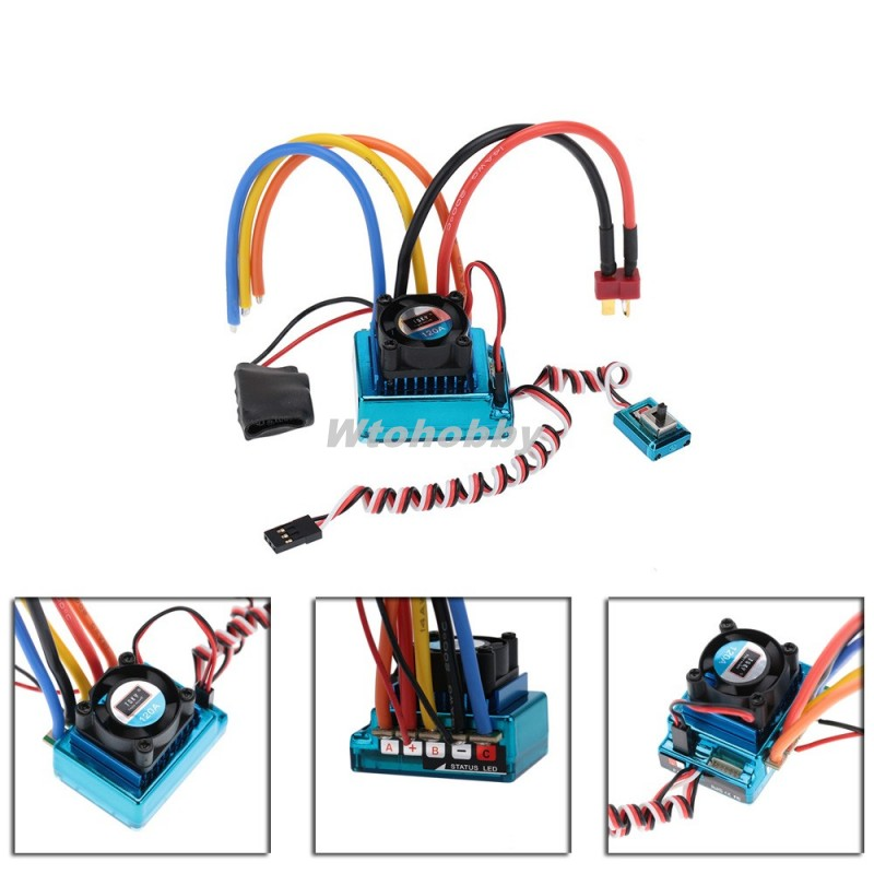 Toy Cars Parts Sensored Brushless Speed Controller ESC 120A for 1/8 1/10 1/12 Car Crawler