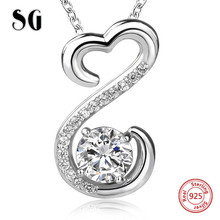 SG Aliexpress recommend lovely chain pendant&necklace 925 sterling silver fashion jewelry making for women gifts