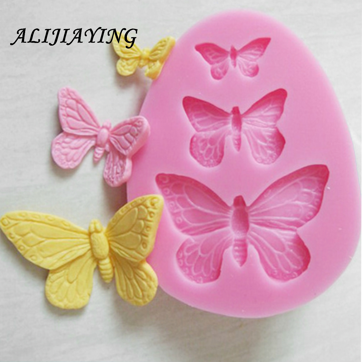 ALIJIAYING 1Pcs Sugarcraft Butterfly Silicone molds fondant