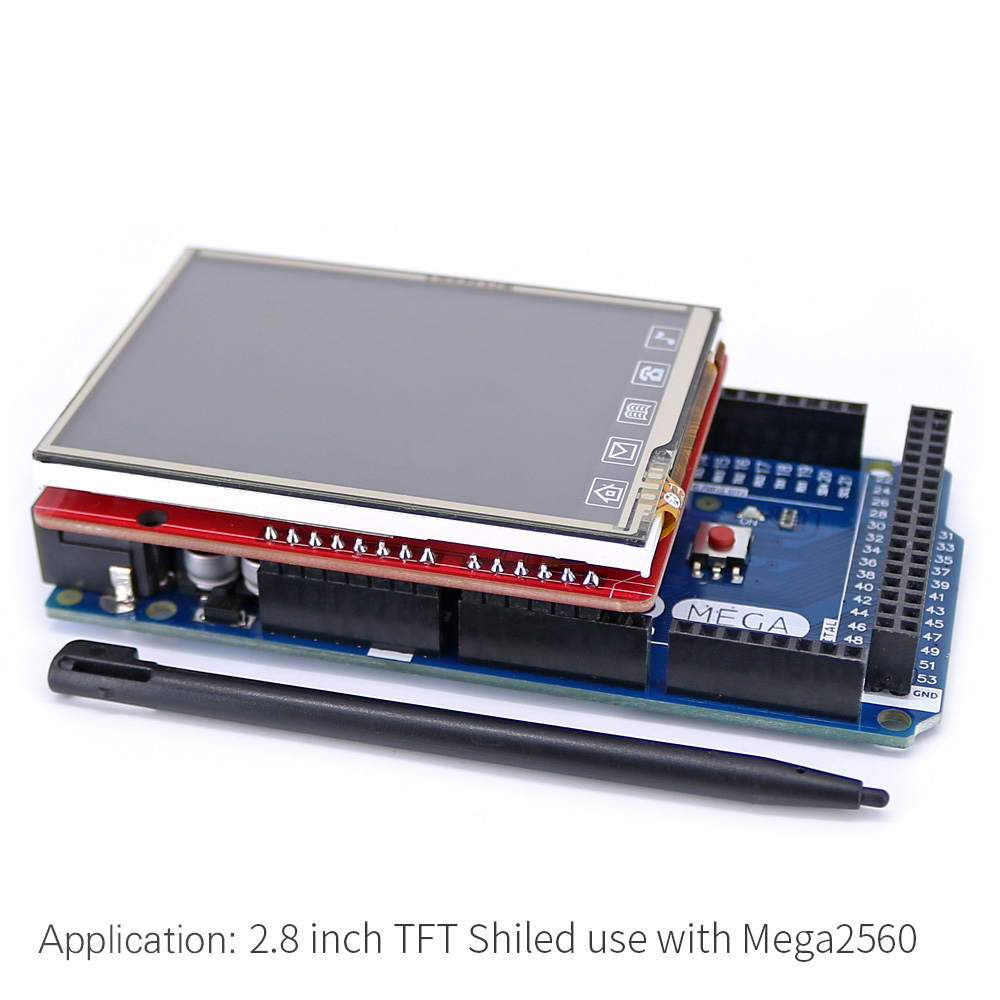 2.8 inch TFT ILI9320 Touch Lcd-scherm Shield On Board - Industriële computers en accessoires - Foto 5